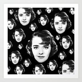 Floating Ruby Keeler Head Art Print