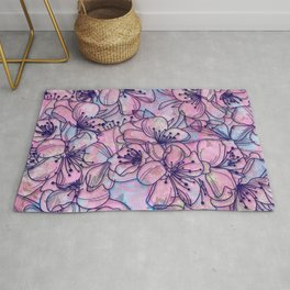 Over and Over Flowers 2 Rug
