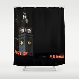 port of san fransisco Shower Curtain