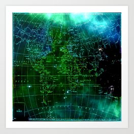 earth map Art Print