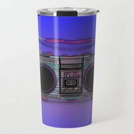 colorful boombox Travel Mug