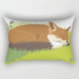 Snoozy Red Fox Rectangular Pillow