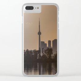 Skyline toronto Clear iPhone Case