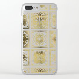 Talavera Mexican Tile – Gold Palette Clear iPhone Case