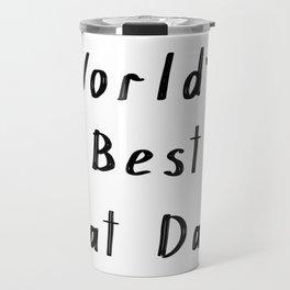 World's best cat dad Travel Mug
