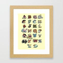 The Disney Alphabet Framed Art Print