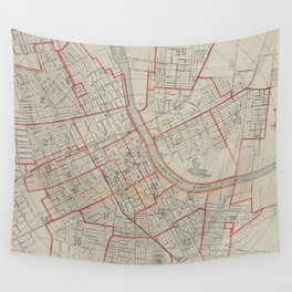 Vintage Map of Nashville TN (1891) Wall Tapestry