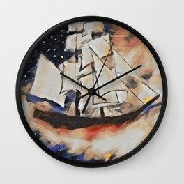 Sky Sailing Wall Clock