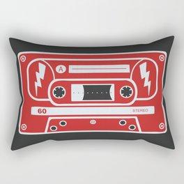 Retro Style Music Cassette in Red Rectangular Pillow