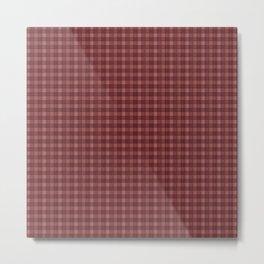 Earthy Red Plaid Metal Print