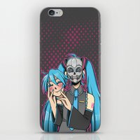 vocaloid iPhone & iPod Skins featuring Vocaloid - Even Cuter Under Here by Tigers and Daises (LadyBeemer)