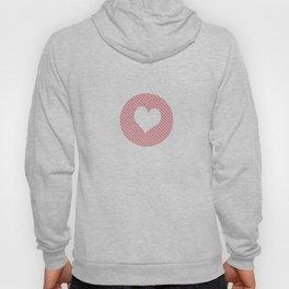 Striped heart Pink Hoody