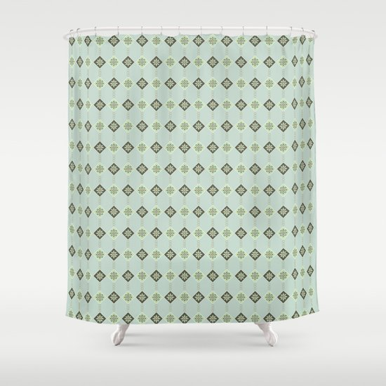 Triangles and Flowers Shower Curtain