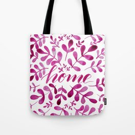 Watercolor home foliage - pink Tote Bag