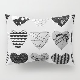 Metallic Love - Hexagon, stripes, triangles, geometric, marble, paint splat hearts! Pillow Sham
