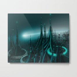 Utopia City Metal Print