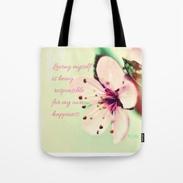 Love Yourself My Happiness Tote Bag