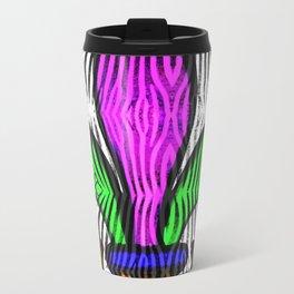 Fleur De Lis Zebra Print Travel Mug