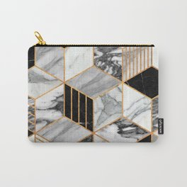 Marble Cubes 2 - Black and White Carry-All Pouch