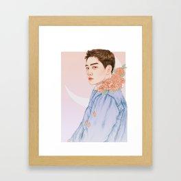 evening sky [d.o. kyungsoo exo] Framed Art Print