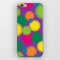 Spikey Circles Purple iPhone & iPod Skin