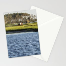 Chincoteague Ponies on Assateague Island Stationery Cards