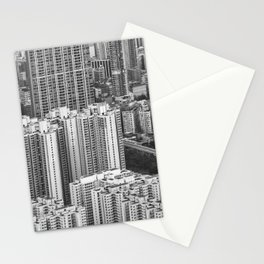 Hong Kong skyscrapers Stationery Cards