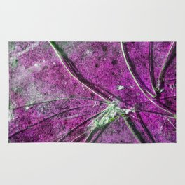 Very Distressed Gothic Grunge Shattered Glass Close Up Abstract Rug