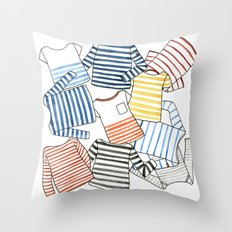 La Marinière Throw Pillow