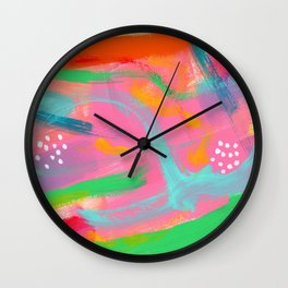 Abstract Colorful Modern Acrylic - BE POSITIVE, BE OK Wall Clock