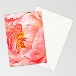 Pink Peony Petals Stationery Cards