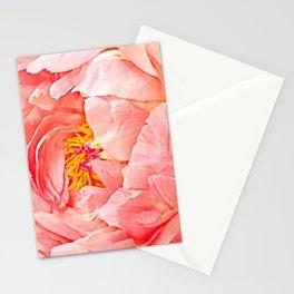 Pink Peony Petals Stationery Cards