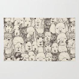 just alpacas natural Rug
