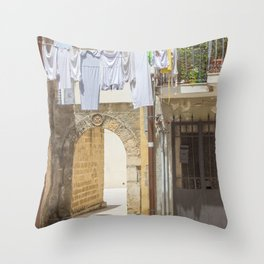 Laundry in Syracuse Throw Pillow