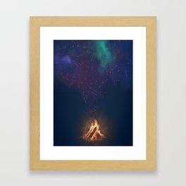 Campfire of Constellations Framed Art Print