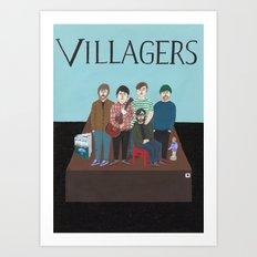 Villagers Art Print