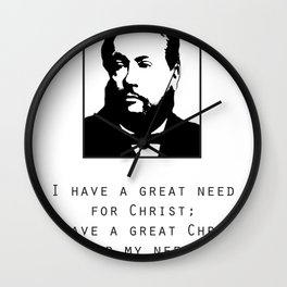"Spurgeon Quote ""I have a great Christ"" Wall Clock"