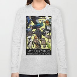 Save Our Species: Vanishing Birds of the World Long Sleeve T-shirt