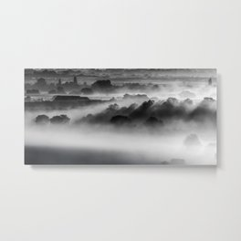 Drifting Morning Mist Metal Print