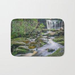 Lao Tsu Quote Zen Waterfall Print Bath Mat