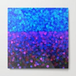 Sparkles Glitter Blue Metal Print