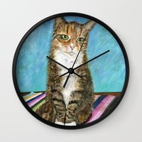 flora Wall Clocks featuring Flora by gretzky