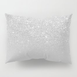 Trendy modern silver ombre grey color block Pillow Sham