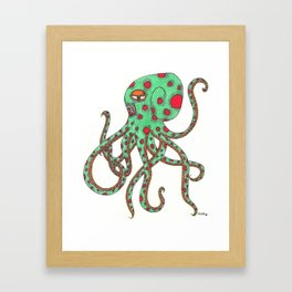 Zombie Octopus  Framed Art Print