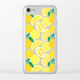 Lemon Harvest Clear iPhone Case