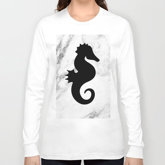 Marble seahorse Long Sleeve T-shirt