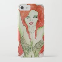poison ivy iPhone & iPod Cases featuring Poison Ivy by Jade Lenehan