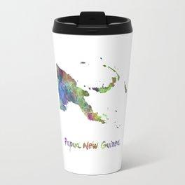 Papua New Guinea in watercolor Travel Mug