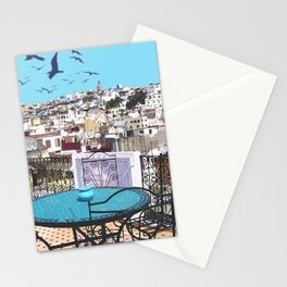 Morroco view Stationery Cards