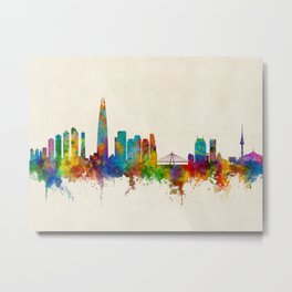 Seoul Skyline South Korea Metal Print